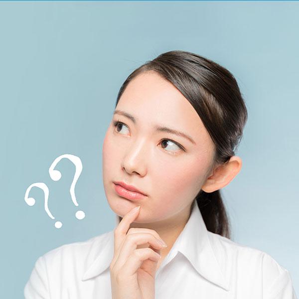 疑問を浮かべる女性